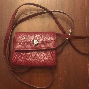Berry-colored pebble leather Brighton bag